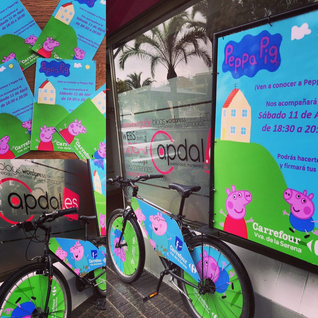 Publicidad en bicicletas publicidad ecol gica de extremadura for Banca pueyo oficinas